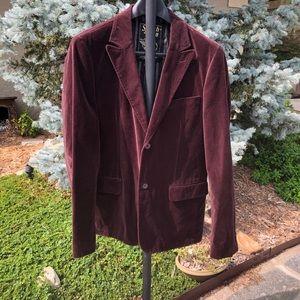 Men's XL wine velvet Scotch & Soda blazer jacket